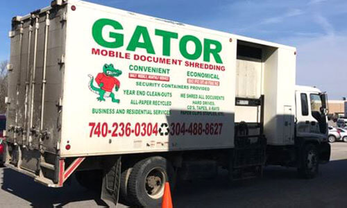 Gator Shredding Truck