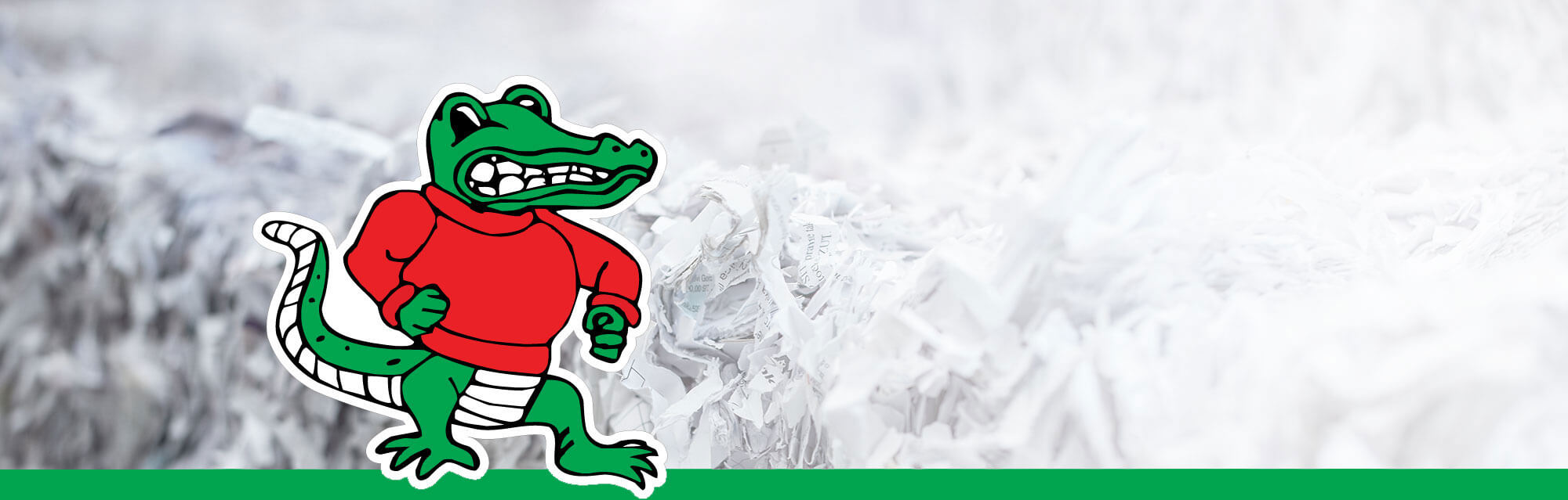 gator shredding banner